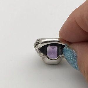 Jewelry - Designer Sterling & 14k Gold Amethyst Ring